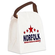 Norfolk U.S.A. Canvas Lunch Bag