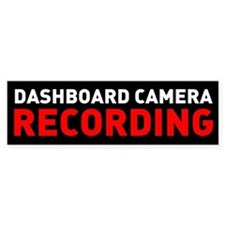Dashcam Recording Bumper Bumper Sticker