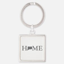 Connecticut Home Square Keychain