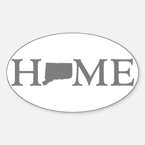 Connecticut Home Sticker (Oval)