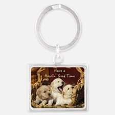 Howlin' Good Time Landscape Keychain