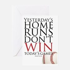 Yesterday's Home Runs Greeting Card