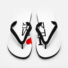 I Love Film Noir Flip Flops