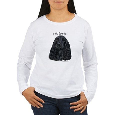 Field Spaniel black Women's Long Sleeve T-Shirt