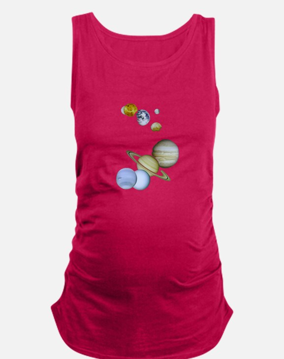 Our Solar System Planets Maternity Tank Top