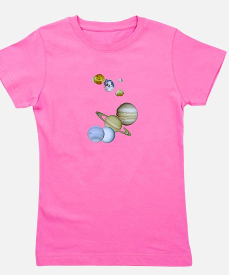 Our Solar System Planets Girl's Tee