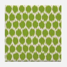 Funky green spot Tile Coaster
