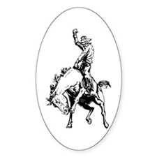 Bronc Oval Decal
