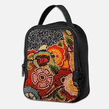 Vintage Beaded Neoprene Lunch Bag