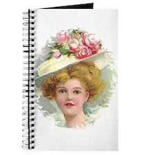 Edwardian Lady In Rose Hat Portrait Journal