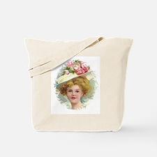 Edwardian Lady In Rose Hat Portrait Tote Bag