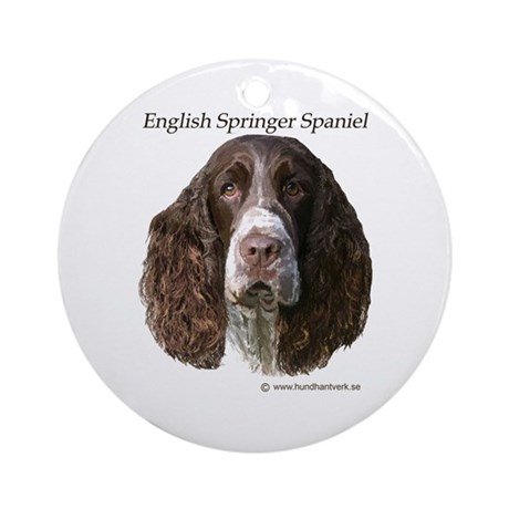 English Springer Spaniel live Ornament (Round)