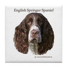 English Springer Spaniel live Tile Coaster