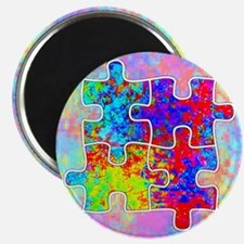 Autism Colorful Puzzle Pieces Magnets