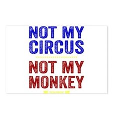 Not My Circus Not My Monkey Postcards (Package of