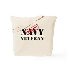 Proud Navy Veteran Tote Bag