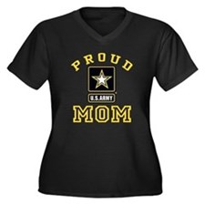 Proud U.S. A Women's Plus Size V-Neck Dark T-Shirt
