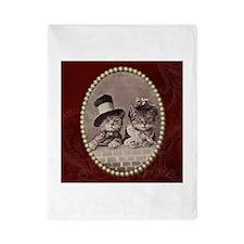 Vintage Cats In Hats Twin Duvet