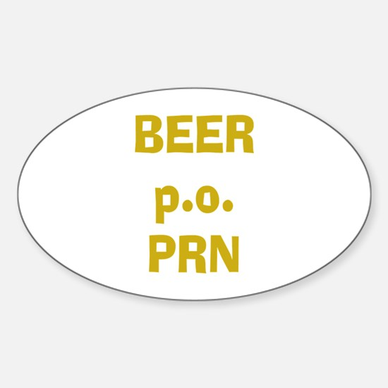 Beer p.o. PRN Oval Decal