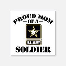 Proud U.S. Army Mom Square Sticker 3