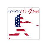 American flag baseball Square