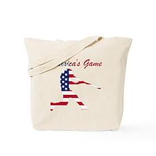 Baseball Batter Americas Game Tote Bag