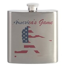Baseball Batter Americas Game Flask
