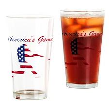 Baseball Batter Americas Game Drinking Glass