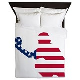 Baseball catcher Luxe Full/Queen Duvet Cover