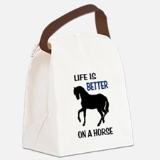 HORSE LOVE Canvas Lunch Bag