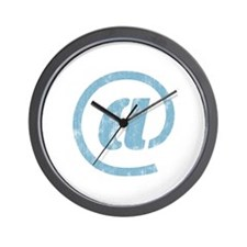 """at"" Sign Wall Clock"