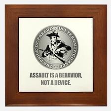 (Eternal Vigilance) Assault Is A Behavoir Framed T