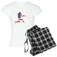 Baseball Batter American Flag Pajamas