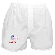 Baseball Batter American Flag Boxer Shorts