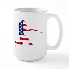 Baseball Batter American Flag Mugs