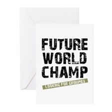 Future World Champ - Looking  Greeting Cards (Pack