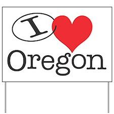 I <3 Oregon Yard Sign