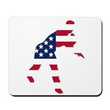 Baseball Pitcher American Flag Mousepad