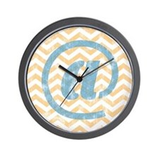 At Sign Wall Clock