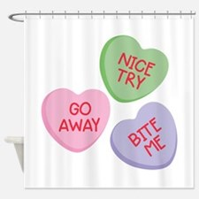 Nice Try Heart Candy Shower Curtain