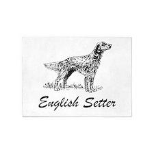 English Setter 5'x7'Area Rug