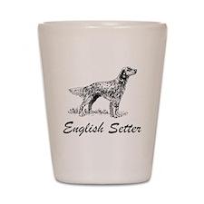 English Setter Shot Glass