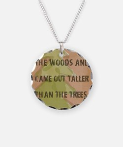Thoreau Walk In The Woods Qu Necklace
