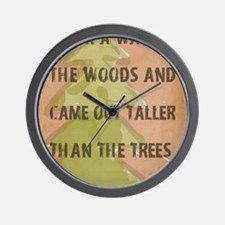 Thoreau Walk In The Woods Quote Wall Clock