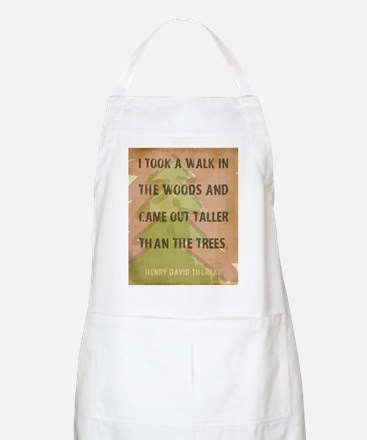 Thoreau Walk In The Woods Quote Apron