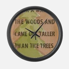 Thoreau Walk In The Woods Quote Large Wall Clock