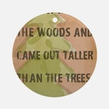 Thoreau Walk In The Woods Quote Round Ornament