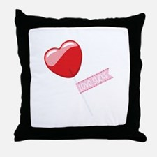 Love Sucks Lollipop Throw Pillow