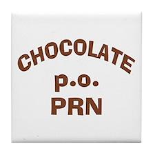 Chocolate p.o. PRN Tile Coaster