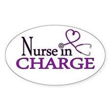 Nurse in Charge - Purple Decal